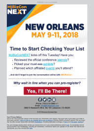 (EVENT) MJBizConNEXT reminder to pre-register and general promo for conference events