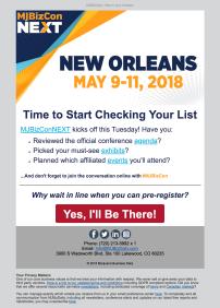 (EVENT) MJBizConNEXT reminder to pre-register and general promo for conference events