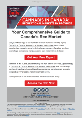 (REPORT) Canada Recreational Market report launch (following announcement of Canadian cannabis legalization)