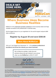 (EVENT) MJBizCon general registration promo