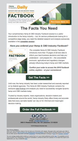 (REPORT) Factbook email re-engaging audience to purchase complete book