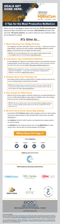 (EVENT) MJBizCon email to attendees with reminders before the event begins